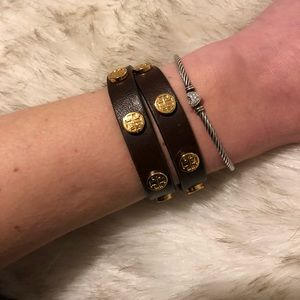 Tory Burch Studded Double Wrap Bracelet